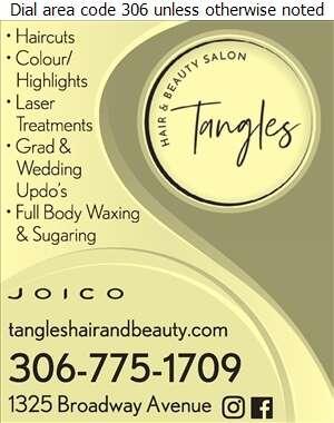 Tangles Hair & Tanning Salon - Beauty Salons Digital Ad