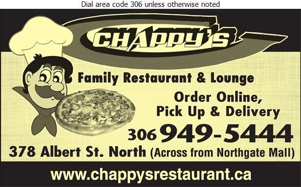 Chappy's Restaurant & Lounge - Pizza Digital Ad