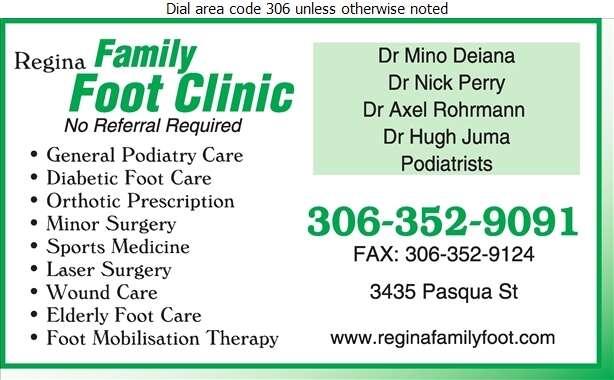 Regina Family Foot Clinic - Podiatrists Digital Ad