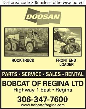 Bobcat Of Regina Ltd - Rental Service General Digital Ad