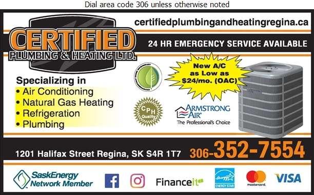 Certified Plumbing & Heating - Air Conditioning Contractors Digital Ad