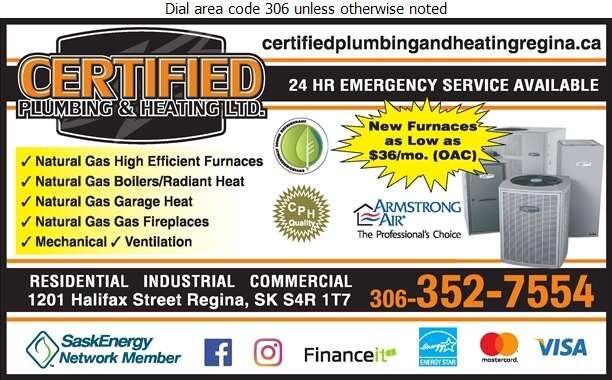 Certified Plumbing & Heating - Furnaces Heating Digital Ad