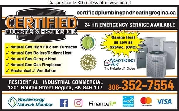 Certified Plumbing & Heating - Heating Contractors Digital Ad