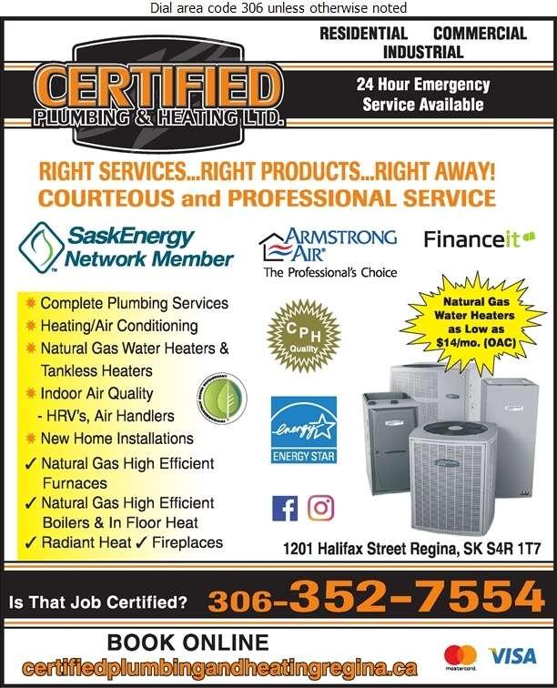 Certified Plumbing & Heating - Plumbing Contractors Digital Ad