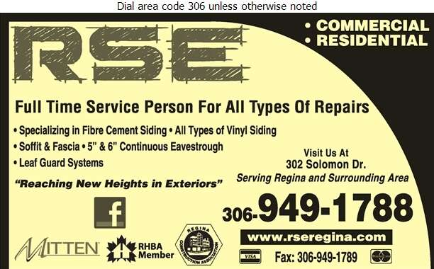 RSE Exteriors Ltd - Eavestroughing Digital Ad