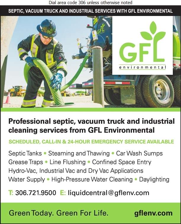 GFL Environmental Inc - Septic Tanks Sales & Service Digital Ad