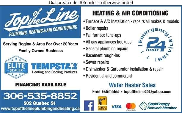Top Of The Line Plumbing & Heating Ltd - Furnaces Heating Digital Ad