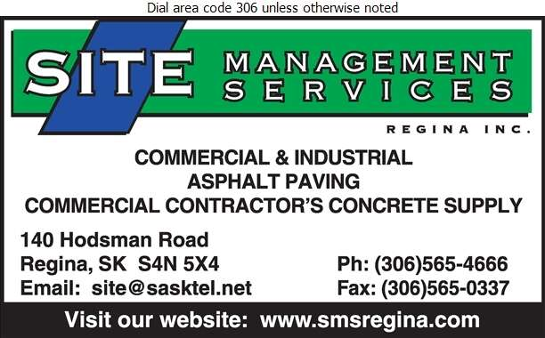 Site Management Services Regina Inc - Paving Contractors Digital Ad