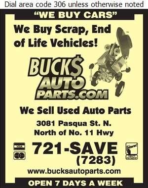 Bucks Auto Parts - Auto Wrecking Digital Ad
