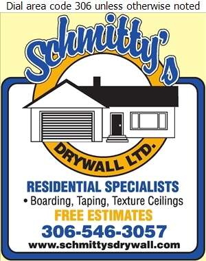 Schmitty's Drywall Ltd - Drywall Contractors Digital Ad