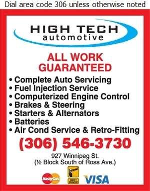 High Tech Automotive - Auto Repairing Digital Ad