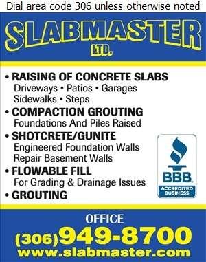 Slabmaster - Basement Contractors Digital Ad