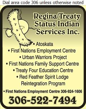 Regina/Treaty Status Indian Services Inc (Red Feather Spirit Lodge Reintegration Program) - First Nations Organizations Digital Ad