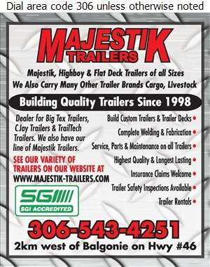 Majestik Trailers - Trailers Equipment & Parts Digital Ad