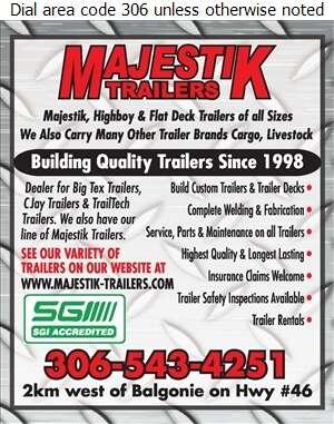 Majestik Trailers - Trailers Equipment & Parts Digital Ad