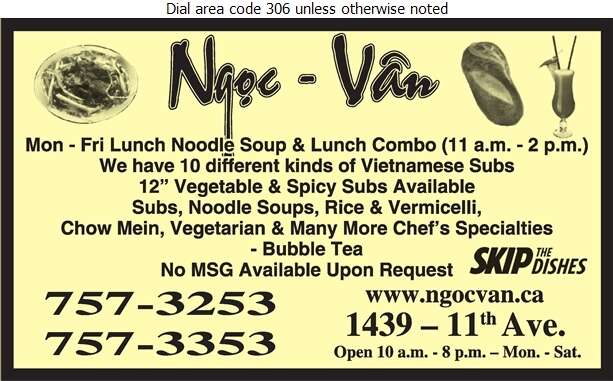 Ngoc Van Vietnamese Chinese House Of Noodle - Chinese Foods Digital Ad