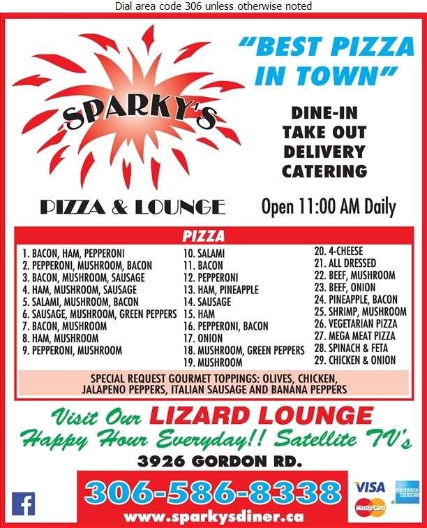 Sparky's Family Restaurant - Pizza Digital Ad
