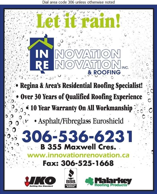 Innovation Renovation & Roofing - Roofing Contractors Digital Ad