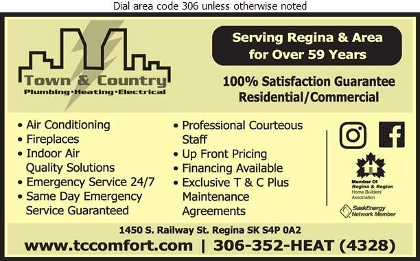 Town & Country Plumbing & Heating (2004) Ltd - Air Conditioning Contractors Digital Ad