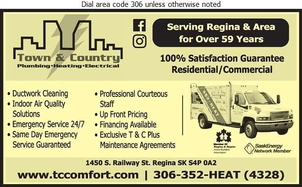 Town & Country Plumbing & Heating (2004) Ltd - Furnaces Cleaning Digital Ad