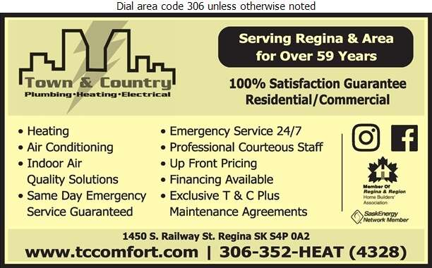 Town & Country Plumbing & Heating (2004) Ltd - Furnaces Heating Digital Ad