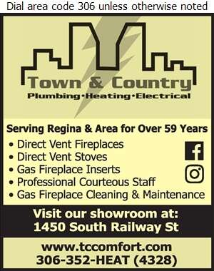 Town & Country Plumbing & Heating (2004) Ltd - Fireplaces Digital Ad