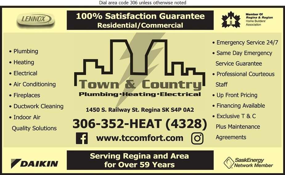 Town & Country Plumbing & Heating (2004) Ltd - Plumbing Contractors Digital Ad
