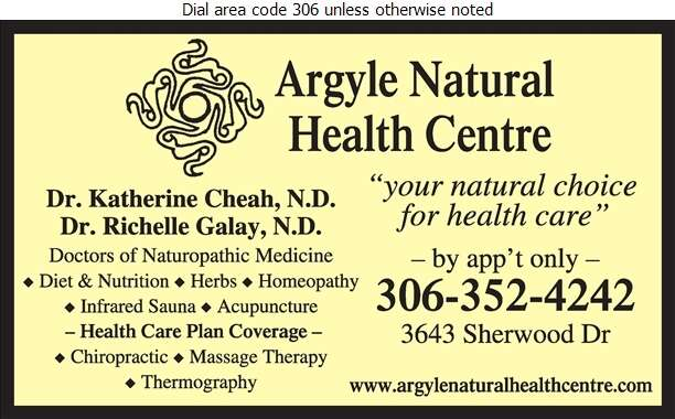 Argyle Natural Health Centre - Naturopathic Doctors Digital Ad