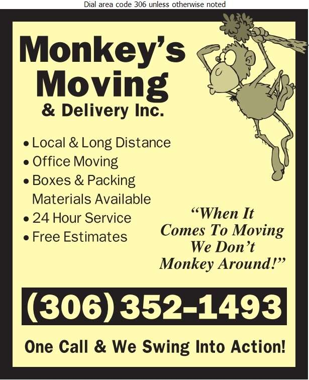Monkey's Moving Inc - Movers Digital Ad