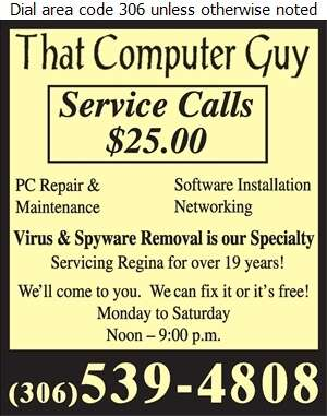 That Computer Guy - Computers - Repairs & Maintenance Digital Ad