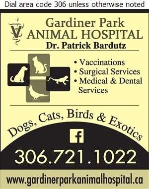 Gardiner Park Animal Hospital - Veterinarians Digital Ad