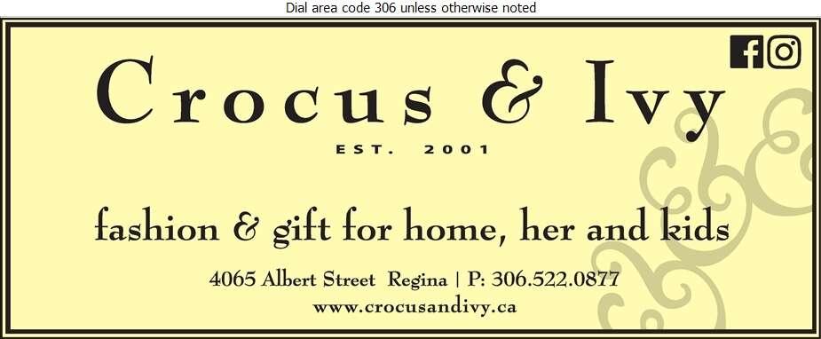 Crocus & Ivy - Gift Shops Digital Ad