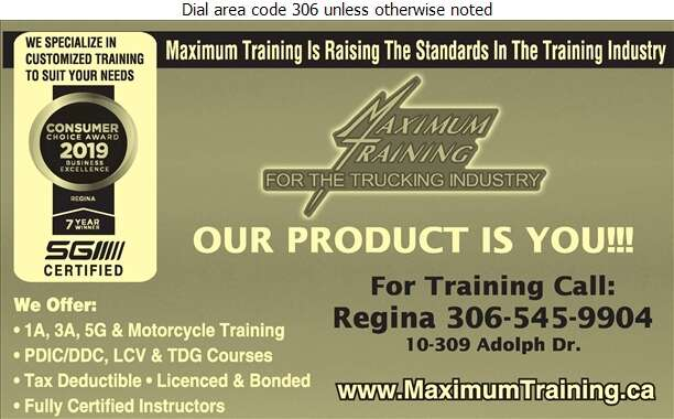 Maximum Training For The Trucking Industry - Driving Instruction Digital Ad
