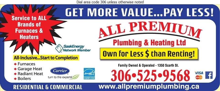 All Premium Plumbing & Heating Ltd - Heating Contractors Digital Ad