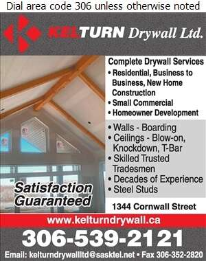 Kelturn Drywall Ltd - Renovations Digital Ad