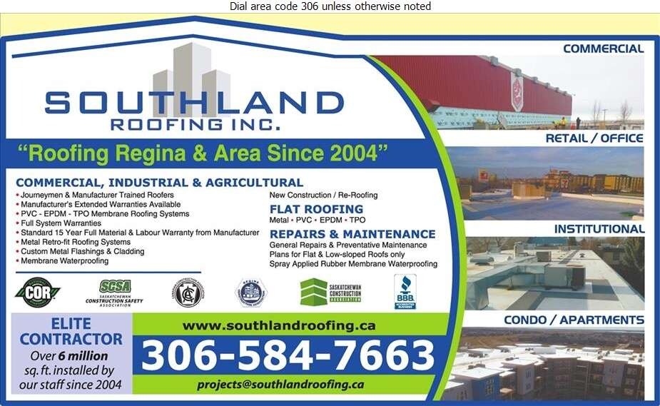 Southland Roofing Inc - Roofing Contractors Digital Ad