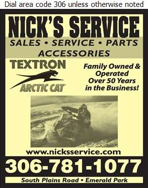 Nick's Service - Snowmobiles Digital Ad