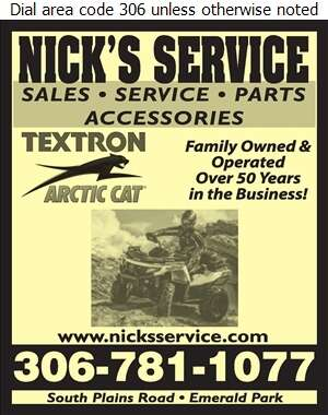 Nick's Service - All Terrain Vehicles Digital Ad