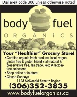 Body Fuel Organics - Health Food Products Digital Ad