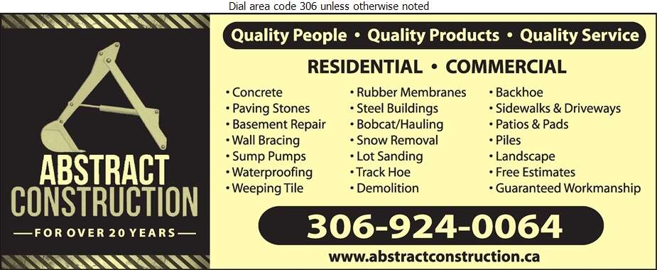 Abstract Construction - Concrete Contractors Digital Ad