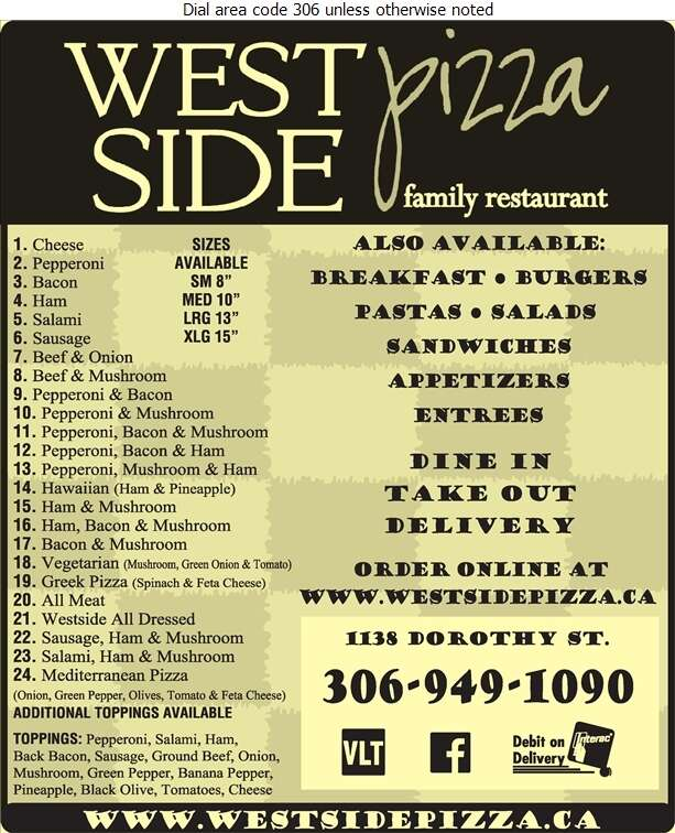 WestSide Pizza Family Restaurant - Pizza Digital Ad