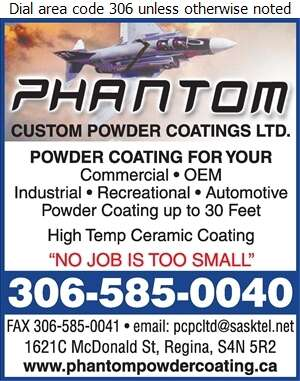 Phantom Custom Powder - Powder Coating Digital Ad