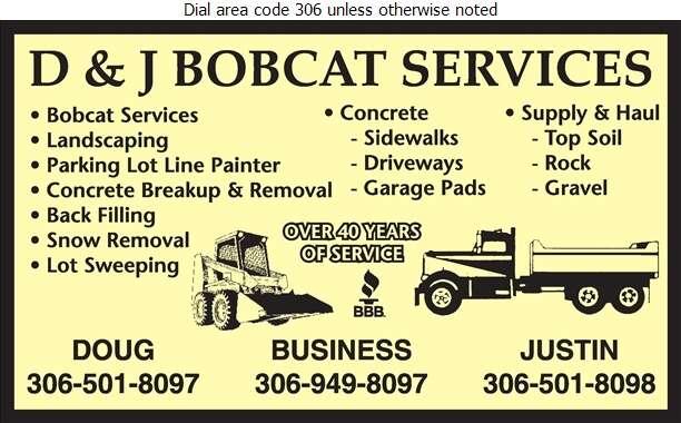 D & J Bobcat Services - Landscape Contractors & Designers Digital Ad