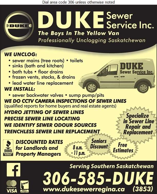 Duke Sewer Service - Sewer Contractors Digital Ad
