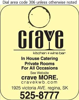 Crave Kitchen + Wine Bar - Caterers Digital Ad