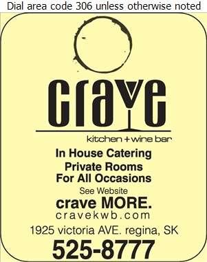 Crave Kitchen + Wine Bar - Banquet Rooms Digital Ad