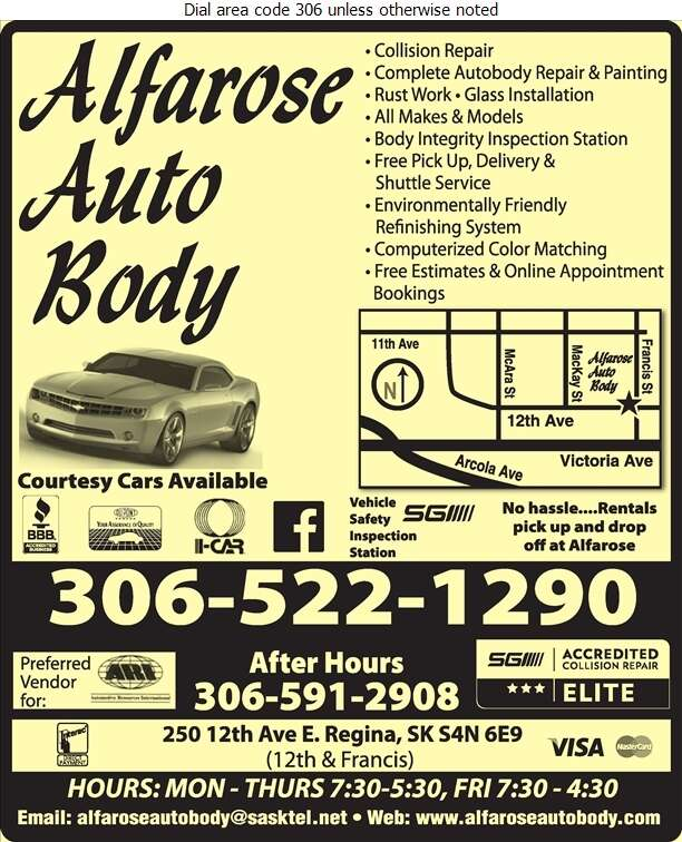 Alfarose Autobody - Auto Body Repairing Digital Ad