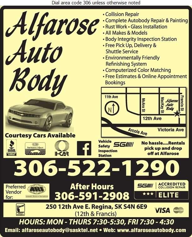 Alfarose Autobody - Auto Body Repairing Digital Ad