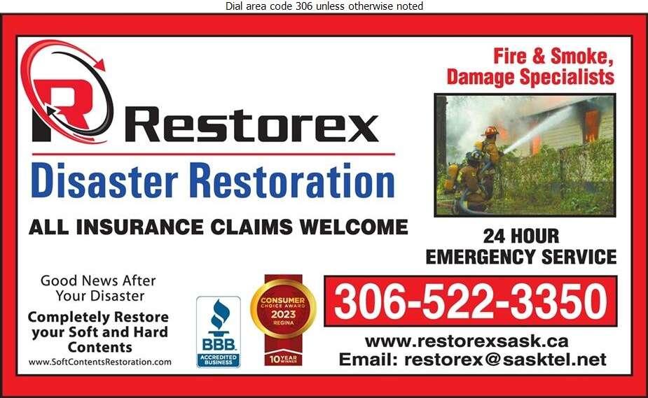 Restorex Disaster Restoration - Fire Damage Restoration Digital Ad