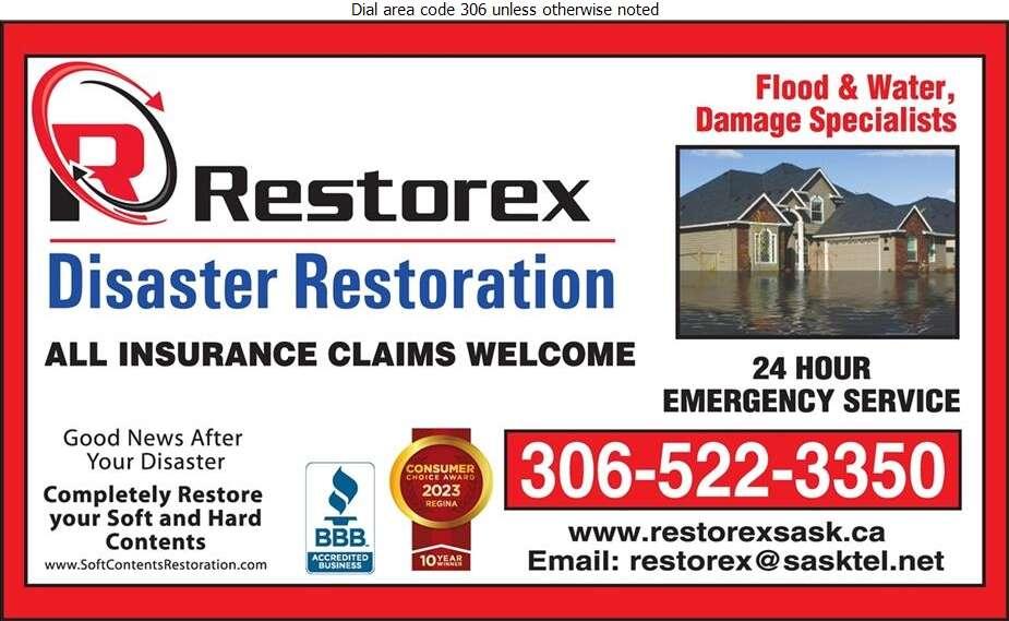 Restorex Disaster Restoration - Flood Damage Restoration & Floodproofing Digital Ad